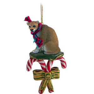 Cougar Candy Cane Ornament