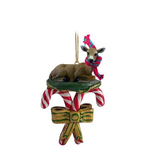 Deer Doe Candy Cane Ornament