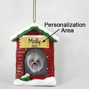 Lhasa Apso Gray House Ornament (Personalize-It-Yourself)