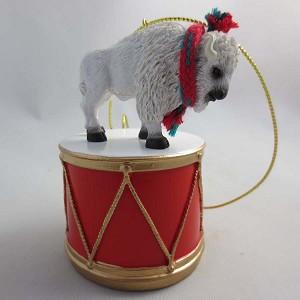 Buffalo White Drum Ornament