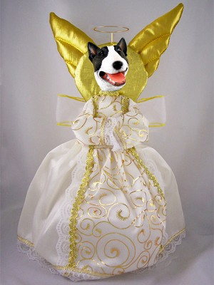 Bull Terrier Brindle Doogie Collection Angel Tree Topper